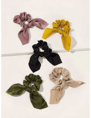 5pcs Bow Knot Decor Scrunchie