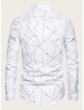 Men Allover Geo Print Shirt