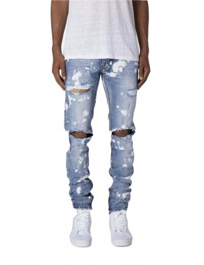 Men Paint-splattered Ripped Jeans