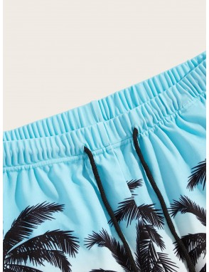 Men Coconut Print Sweat Shorts