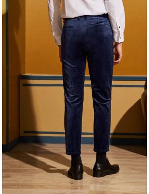 Men Button Fly Velvet Pants