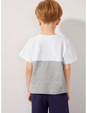 Toddler Boys Colorblock Stripe Tee