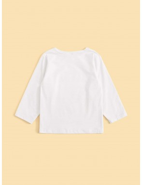 Toddler Boys Traffic And Letter Print Tee