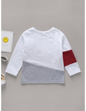 Toddler Boys Colorblock Letter Print Tee