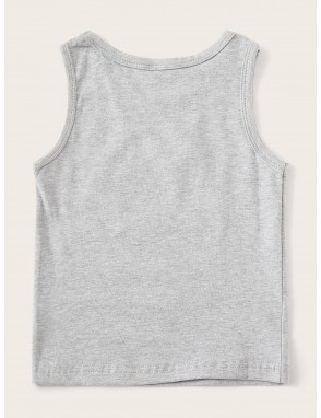 Toddler Boys Ice Cream Print Tank Top