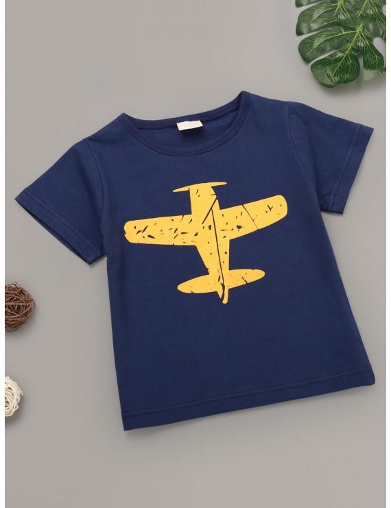 Toddler Boys Aircraft Print Tee