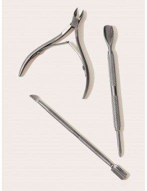 Dead Skin Nail Scissor With  Nail Push 3pcs