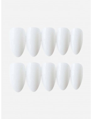 Almond Fake Nail 24pcs With Tape 1pc