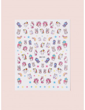 Cartoon Graphic Nail Stickers