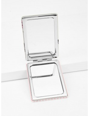 Cosmetic Pattern Double-sided Mini Makeup Mirror