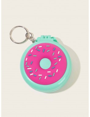 Doughnut Pattern Portable Mirror With Comb
